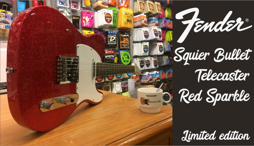 Squier Telecaster Red Sparkle