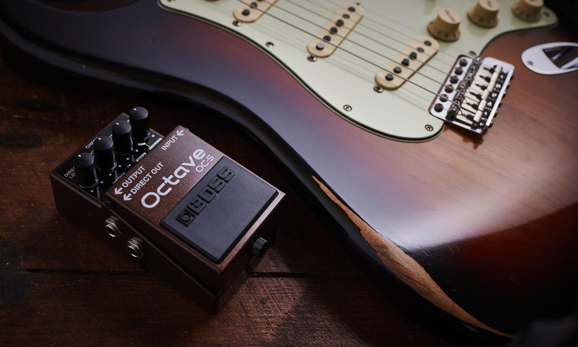 Boss OC-5 Octave met Stratocaster gitaar