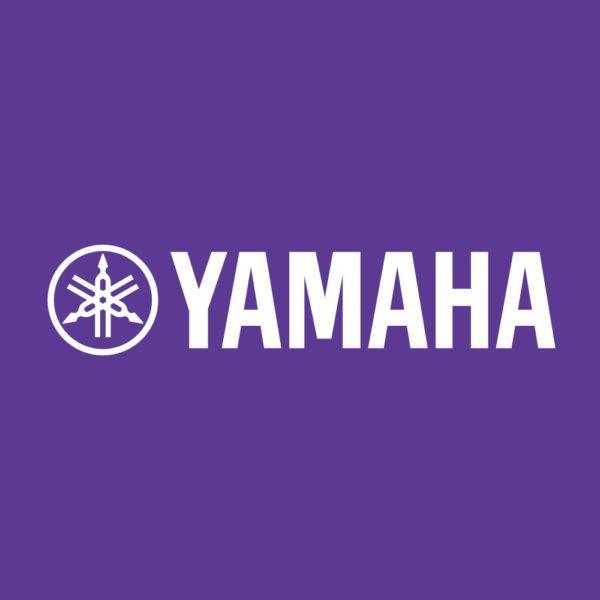 Yamaha logo in paars vierkant